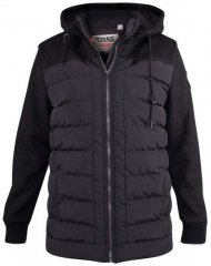 D555 Hampshire Hooded Quilted Jacket Black