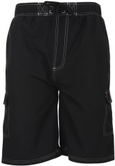 Motley Denim Swim Shorts Black