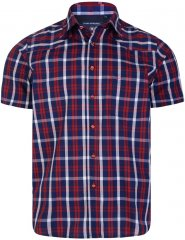 Kam Jeans 6143 Short Sleeve Shirt Red