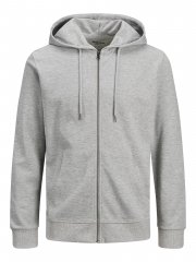 Jack & Jones Basic Sweat Zip Hood Gray