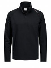 Jack & Jones Running Half Zip Sweat Black