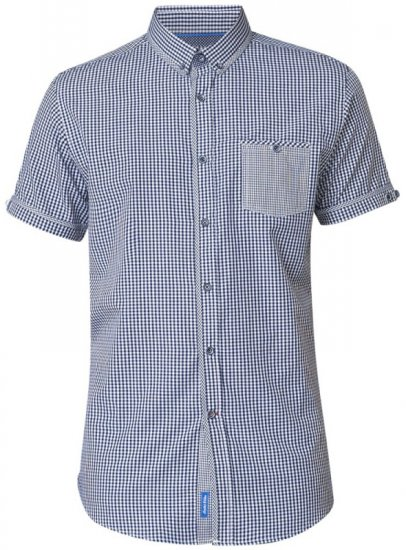 D555 Hank Gingham Short Sleeve Shirt - Krekli - Krekli - 2XL-8XL