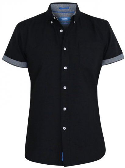 D555 Kevin Oxford Shirt Black - Krekli - Krekli - 2XL-8XL