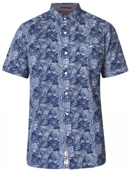 D555 Sheldon Hawaii Shirt Navy - Krekli - Krekli - 2XL-8XL