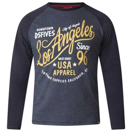D555 Neill Long Sleeve T-shirt Black - T-krekli - T-krekli - 2XL-8XL