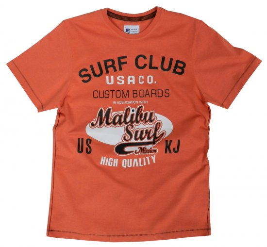 Kam Jeans Surf Club Tee Orange - T-krekli - T-krekli - 2XL-8XL