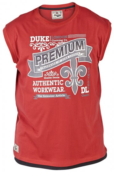 Duke Goa Tank Top Red - T-krekli - T-krekli - 2XL-8XL