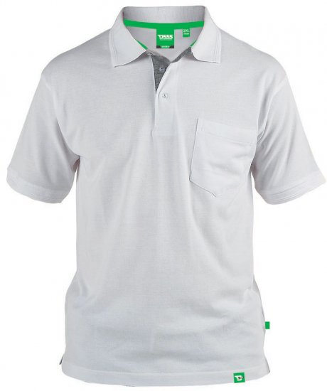 D555 Grant Polo Balts - Polo krekli - Polo krekli - 2XL-8XL