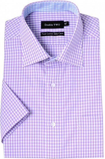 Double TWO Formal Shirt Purple - Krekli - Krekli - 2XL-8XL