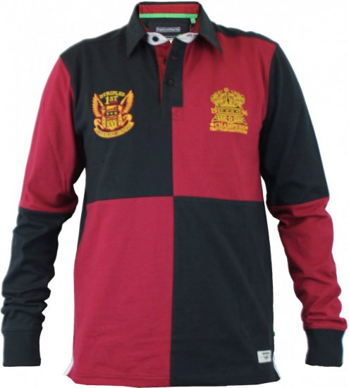 D555 Rico Black-Red - Polo krekli - Polo krekli - 2XL-8XL