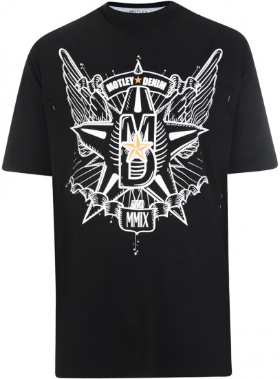 Motley Denim Wings and Star T-shirt - T-krekli - T-krekli - 2XL-8XL