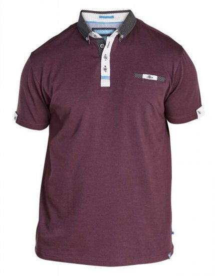 D555 Edger Stretch Cotton Polo Dark Burgundy - Polo krekli - Polo krekli - 2XL-8XL