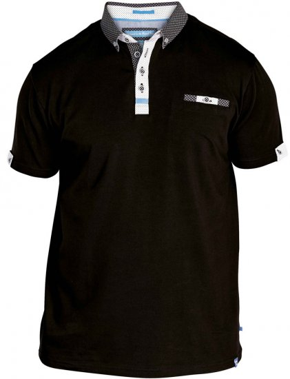 D555 Edger Stretch Cotton Polo Black - Polo krekli - Polo krekli - 2XL-8XL