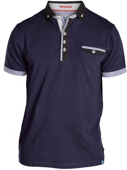 D555 Roland Short Sleeve Polo Shirt Navy - Polo krekli - Polo krekli - 2XL-8XL