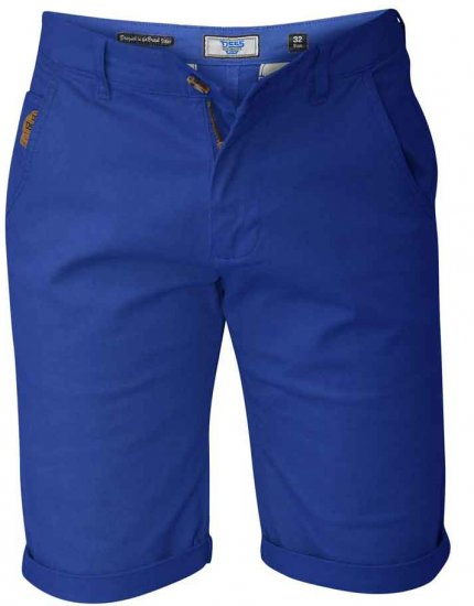 D555 COLTEN Stretch Cotton Chino Shorts Blue - Šorti - Šorti - W40-W60