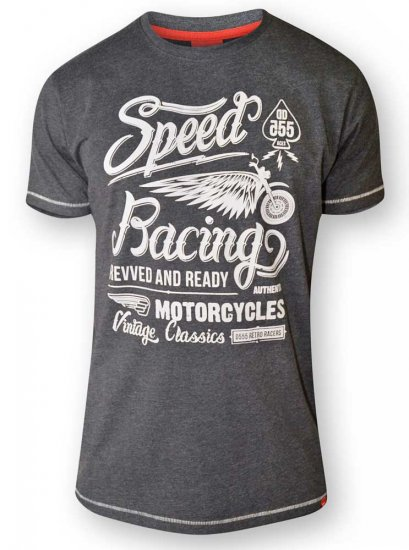 D555 CORTEZ Speed Racing T-Shirt Black - T-krekli - T-krekli - 2XL-8XL