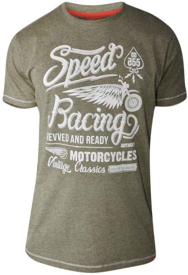 D555 CORTEZ Speed Racing T-Shirt Khaki - T-krekli - T-krekli - 2XL-8XL