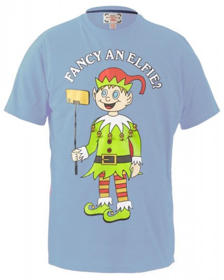 D555 Fancy an Elfie T-shirt Blue - T-krekli - T-krekli - 2XL-8XL