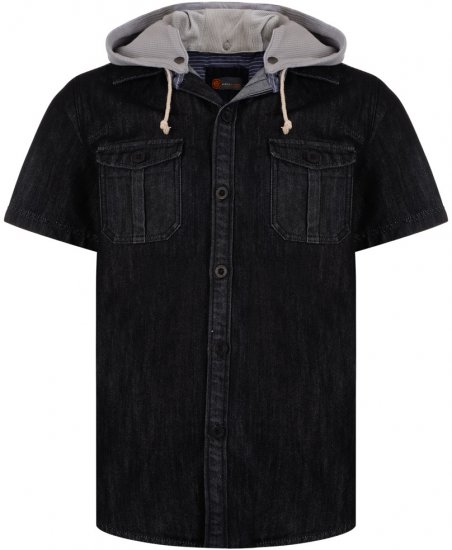 Kam Jeans Luiz Short Sleeve Denim Shirt Black - Krekli - Krekli - 2XL-8XL