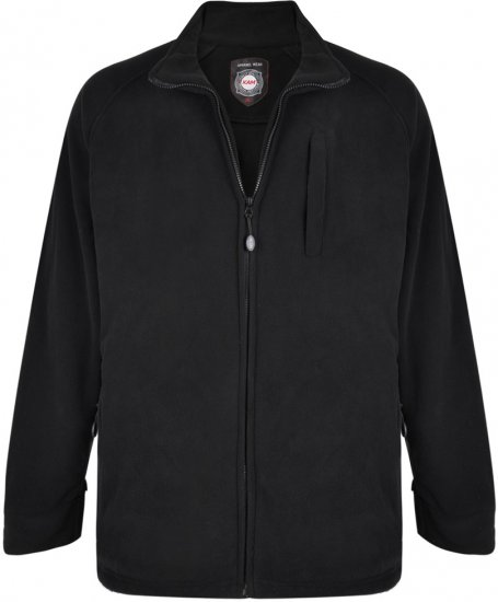 Kam Jeans 437 Fleece Jacket Black - Džemperi un džemperi ar kapuci - Džemperi - 2XL-8XL