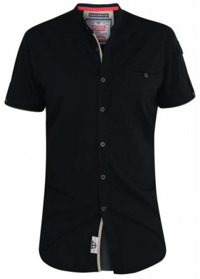 D555 Archer Collarless Shirt Black - Krekli - Krekli - 2XL-8XL