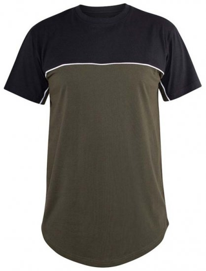 D555 Buckland Couture Cut And Sew Curved Hem T-Shirt - T-krekli - T-krekli - 2XL-8XL