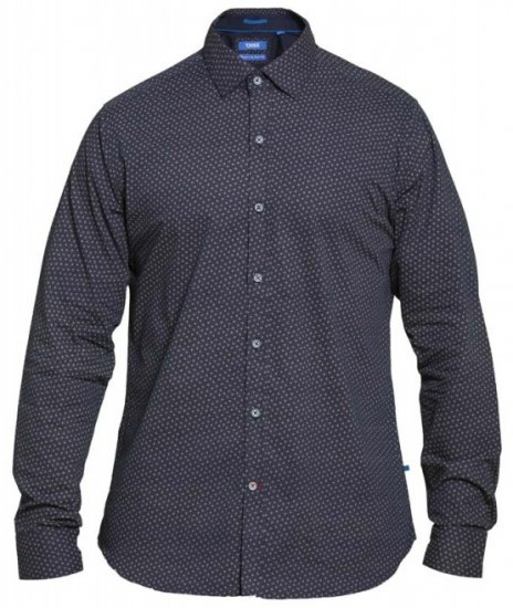 D555 Babworth Long Sleeve Shirt Navy - Krekli - Krekli - 2XL-8XL