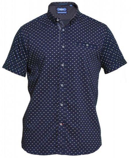 D555 Barrington Short Sleeve Shirt Navy - Krekli - Krekli - 2XL-8XL