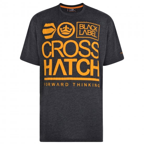 Crosshatch Large Go T-shirt Charcoal - T-krekli - T-krekli - 2XL-8XL