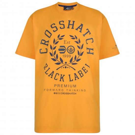 Crosshatch Laygos T-shirt Yellow - T-krekli - T-krekli - 2XL-8XL