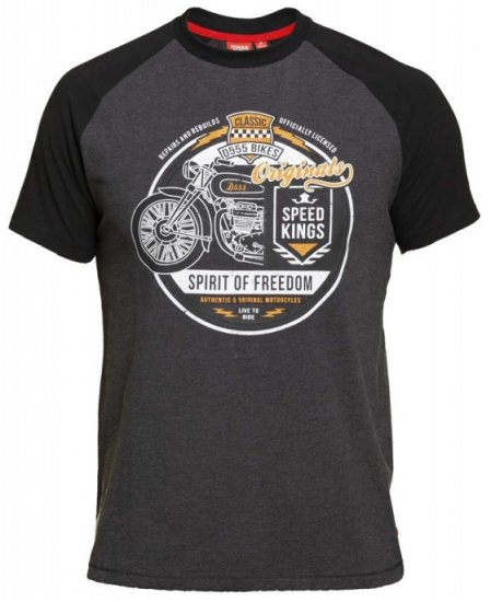 D555 Dallas T-shirt Charcoal - T-krekli - T-krekli - 2XL-8XL