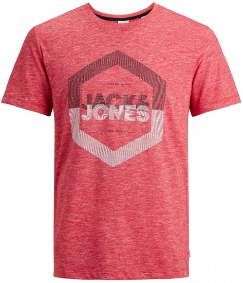 Jack & Jones Elight Crew Neck T-shirt Red - T-krekli - T-krekli - 2XL-8XL