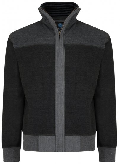 Kam Jeans 715 Full Zip Sweater Charcoal - Džemperi un džemperi ar kapuci - Džemperi - 2XL-8XL