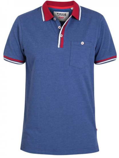 D555 Nigel Polo Denim Blue - Polo krekli - Polo krekli - 2XL-8XL