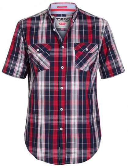 D555 Terell Shirt Navy/Red - Krekli - Krekli - 2XL-8XL